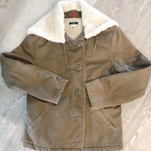 Vintage JCREW Green military style coat